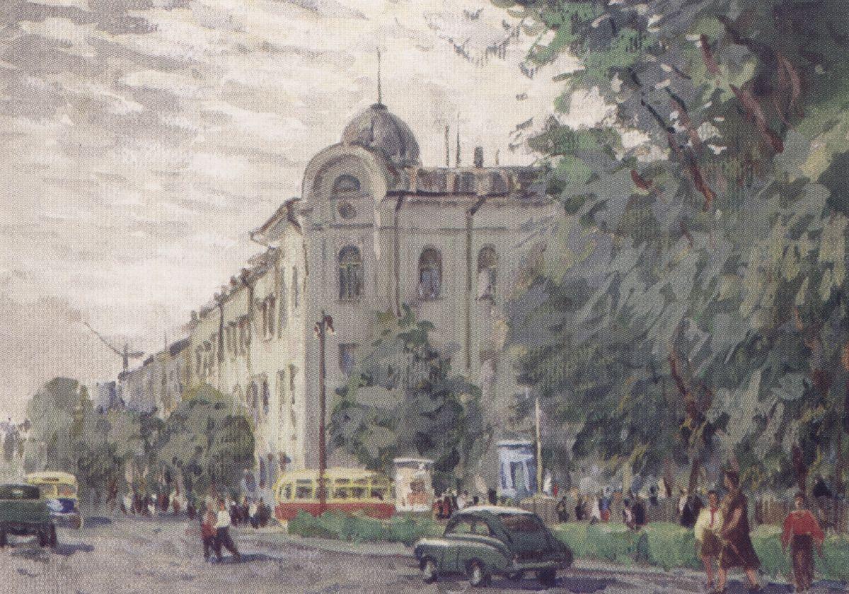 Вуліца Першамайская ў Гомелі ў 1958 г.