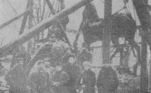Демонтаж памятника — апрель 1922 года