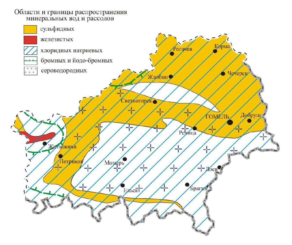 Рисунок 7 - Минеральные воды Гомельской области