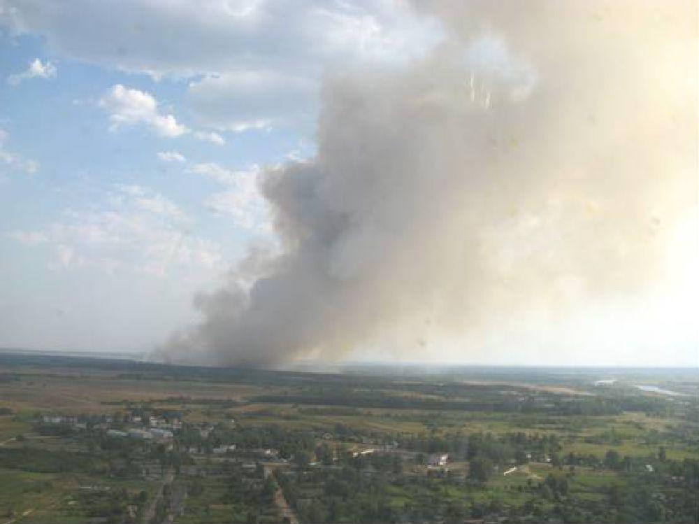 Верховой лесной пожар 16-17 августа 2008 г. в Ветковском спецлесхозе