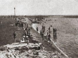 Рака Сож у Гомелі ў 1930-х гг. і пляж