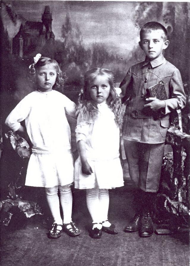 Дзецi сям'i Хомскiх. 1918 год