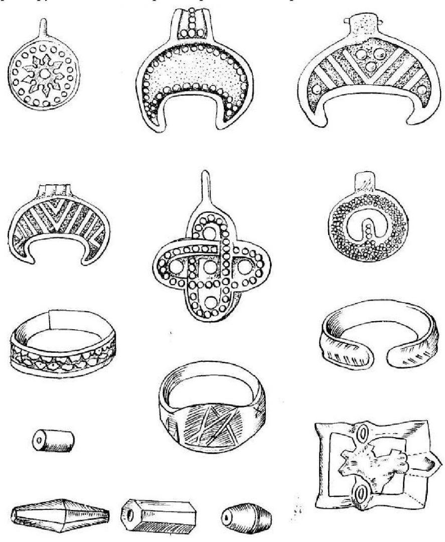 Рис. 13. Женские украшения из курганов радимичей XI-XII вв