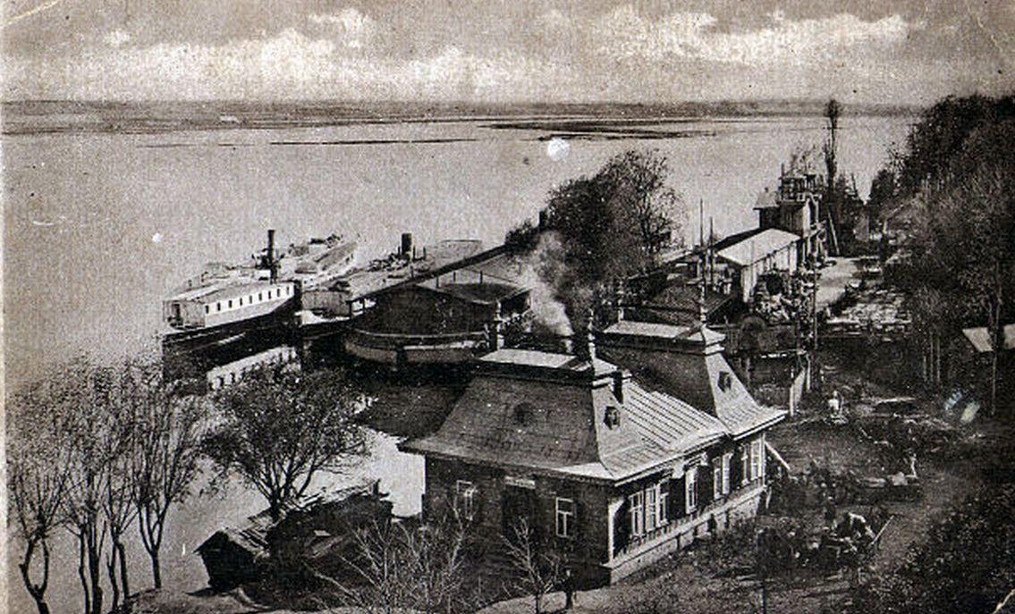 Набережная Сожа в Гомеле сто лет назад старое фото