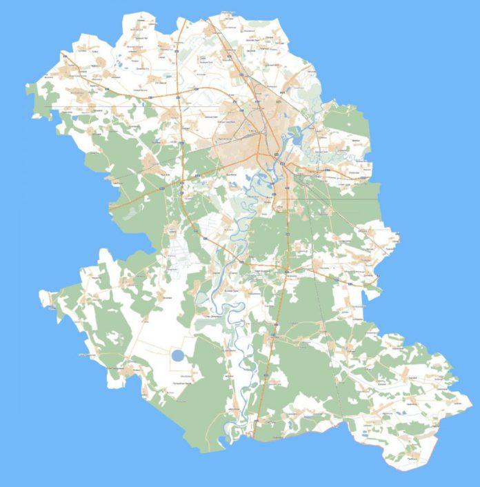 Гомельскі раён карта
