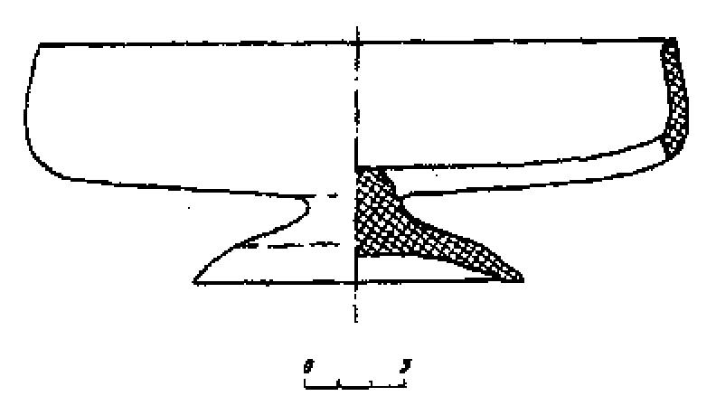 Рис. 1. Гомель, начало XIII в. Реконструкция деревянного сосуда.