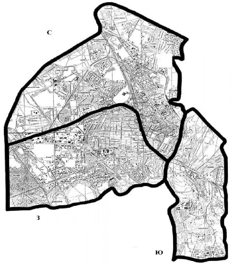 Схема промышленного зонирования города Гомеля