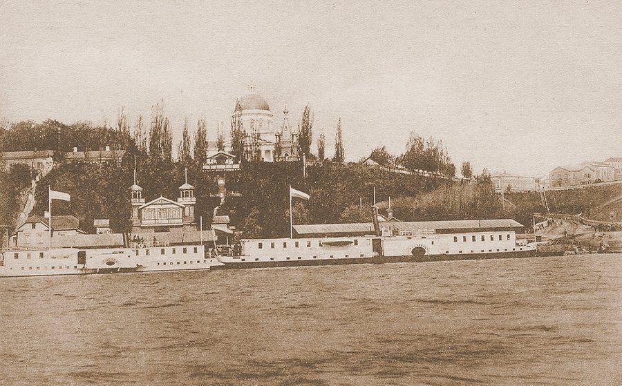 Пароходная пристань на Соже в Гомеле. Начало XX века.