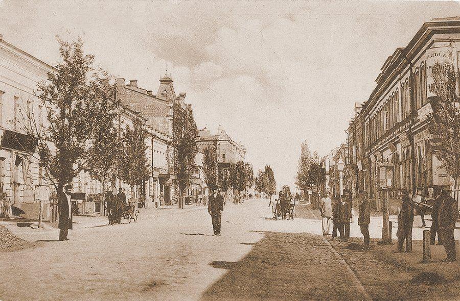Румянцевская улица в Гомеле. Начало XX века.