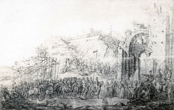 Уезд Януша Радзівіла ў Кіеў у 1651 г.(Смирнов, Я. И. Рисунки Киева 1651 г.)