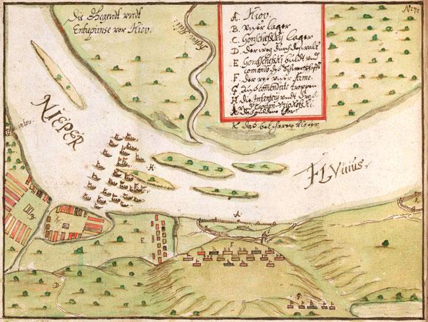 Войска ВКЛ пад Кіевам у 1651 г.(Královská kanonie premonstrátů na Strahově)