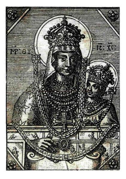 Богоматерь Ченстоховская (гравюра Тепчегорского, начало XVIII в.)