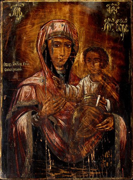 Икона «Богоматерь Смоленская» (XIX в., дерево, масло)