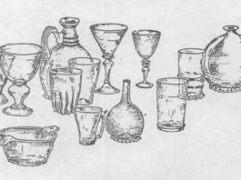 Шкляны посуд пасожскіх гарадоў (XVII-XVIII стст.)