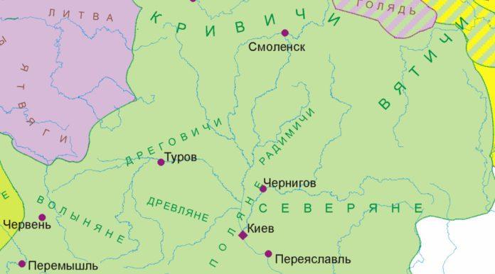 Лендзяне Константина Багрянородного и радимичи