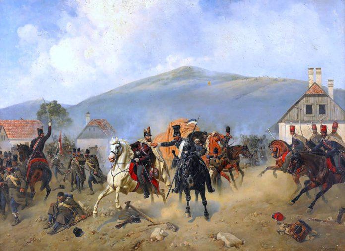 Бой рускіх уланаў і венгерскіх гусараў
