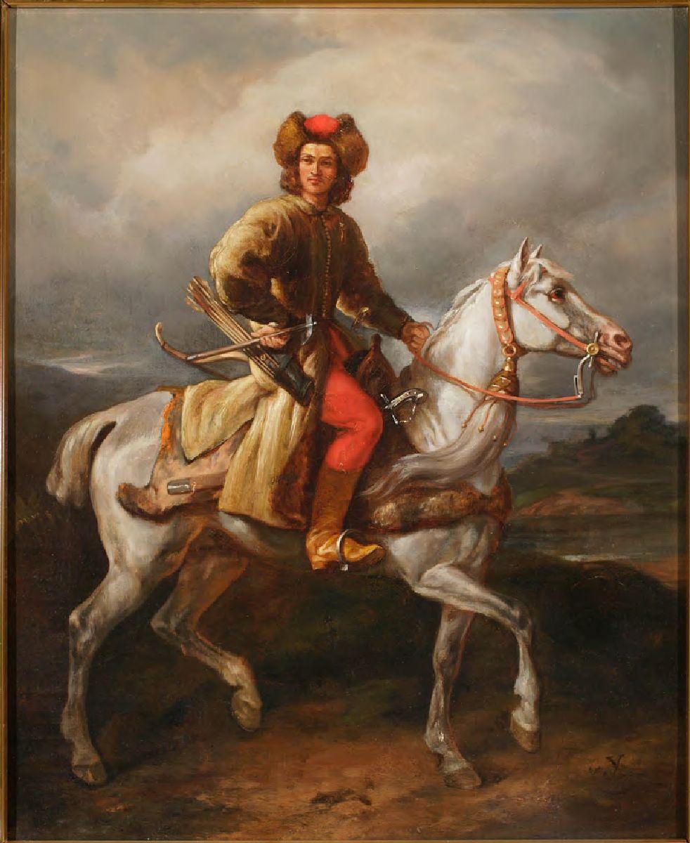 № 25. Лісоўчык. Мастак Юліюш Коссак. 1860 г.