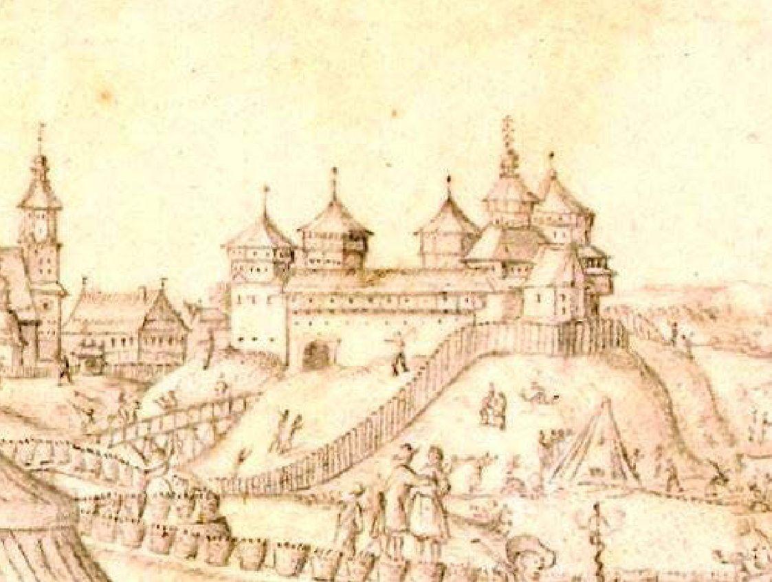 Мал. 3. Замак у Рэчыцы. А. Вестэрфельт, сяр. XVII ст.