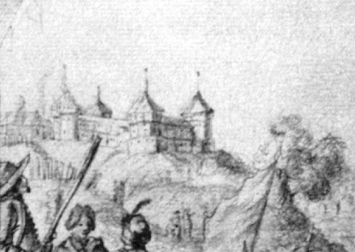 Мал. 4. Замак у Горвалі. А. Вестэрфельт, сяр. XVII ст.