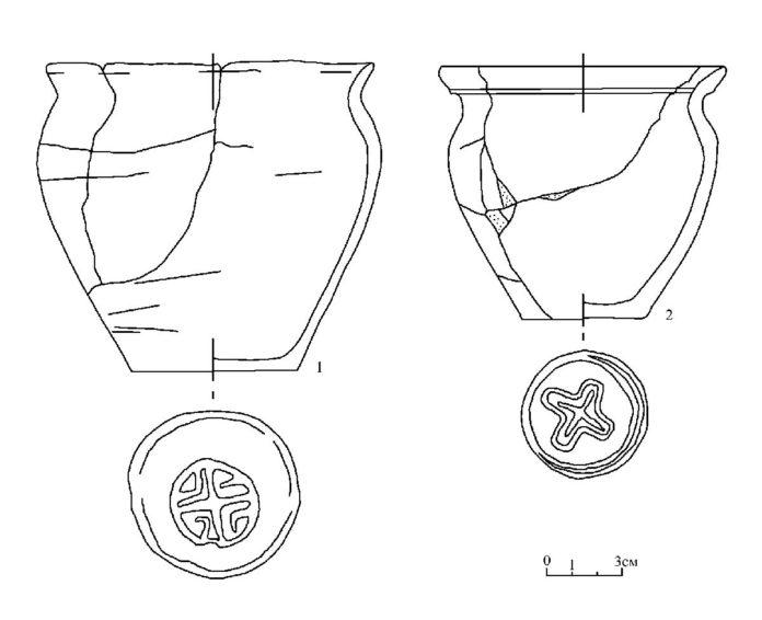 Рис. 1. Керамика из курганов Мохова 1-ой группы