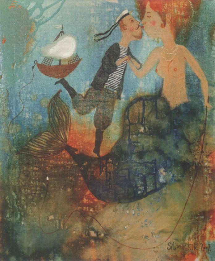 1. Пацалунак русалкі. Змешаная тэхніка. 2007.