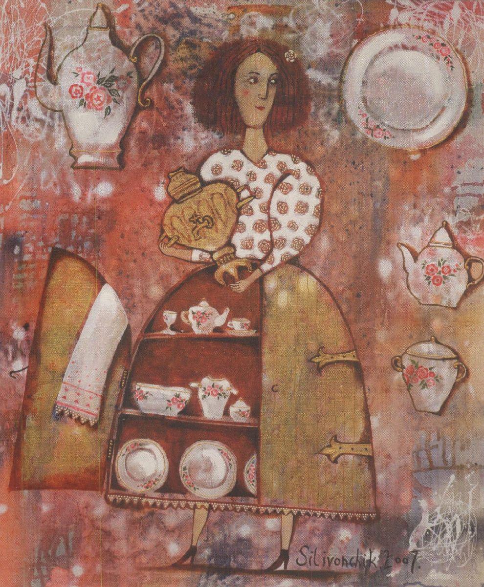 2. Кухонны нацюрморт. Змешаная тэхніка. 2007.